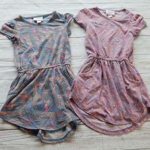 💎LULAROE MAE LIPSTICK/FLORAL POCKET DRESS BUNDLE